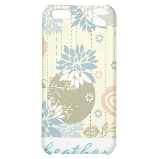 Funky Screen Print Flowers in Pastel Colors iPhone 5C Cover