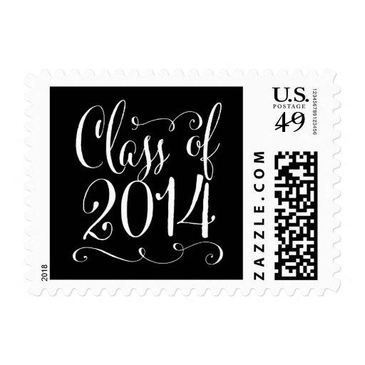 Funky Script Graduation Postage Editable Color Postage Stamps