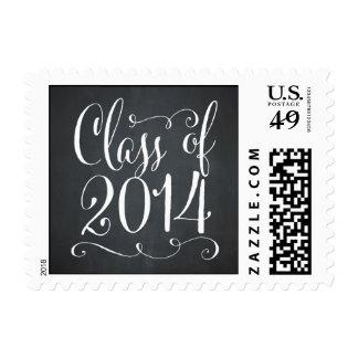 Funky Script Graduation Postage Stamp - Chalkboard Postage Stamp