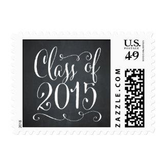 Funky Script Graduation Postage Stamp - Chalkboard