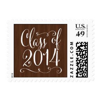 Funky Script Graduation Postage Stamp - Wood Postage