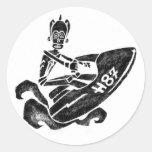 Funky Sea-Doo Classic Round Sticker