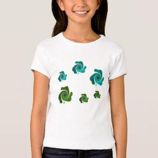 """Funky Shamrock Swirls"" [a] T-Shirt"