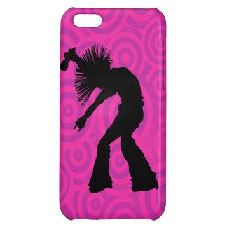 Funky Singer Dancer Pink Retro Circles iPhone 5C Case