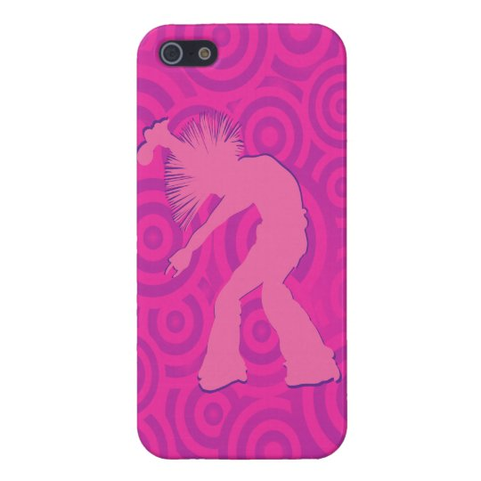 Funky Singer Dancer Pink Retro Circles iPhone SE/5/5s Case