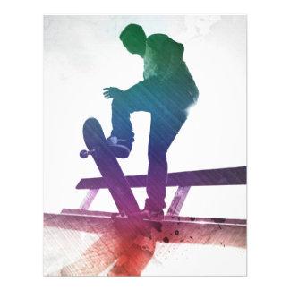 Funky Skateboarder Skate Kid Personalized Invite