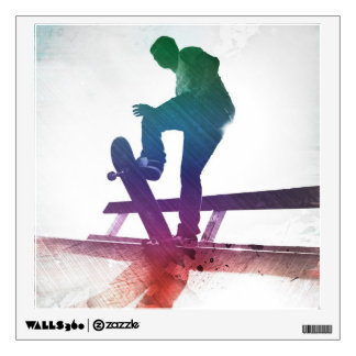 Funky Skateboarder Skate Kid Wall Sticker