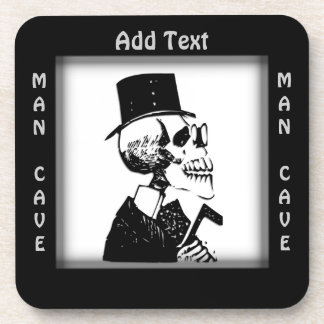 Funky Skeleton Man Cave Personal Coasters