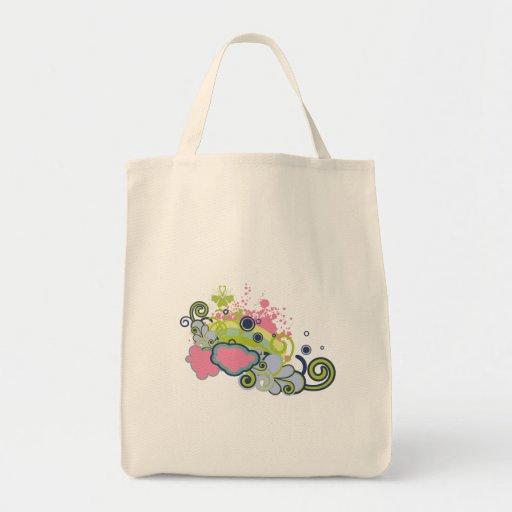 funky skies vector design canvas bag