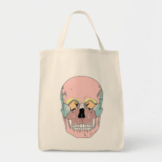 FUNKY SKULL DESIGN Grocery Tote Grocery Tote Bag