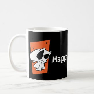 Funky Skull Happy Halloween Mug mug