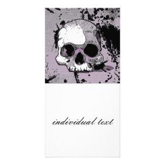 funky skull.toony photo card