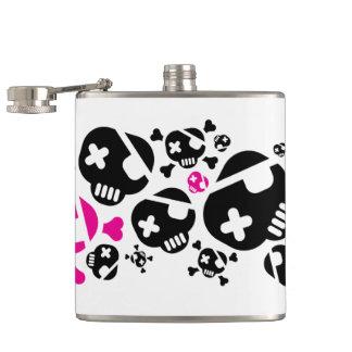 Funky Skulls Flask