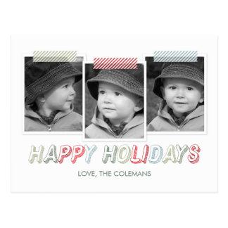 Funky Snapshots Holiday Photo Card Postcard