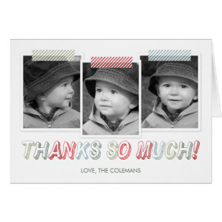 Funky Snapshots Holiday Thank You Card Cards