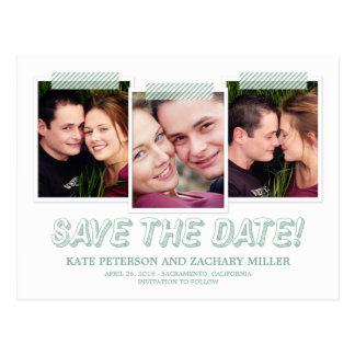 Funky Snapshots Save The Date Card