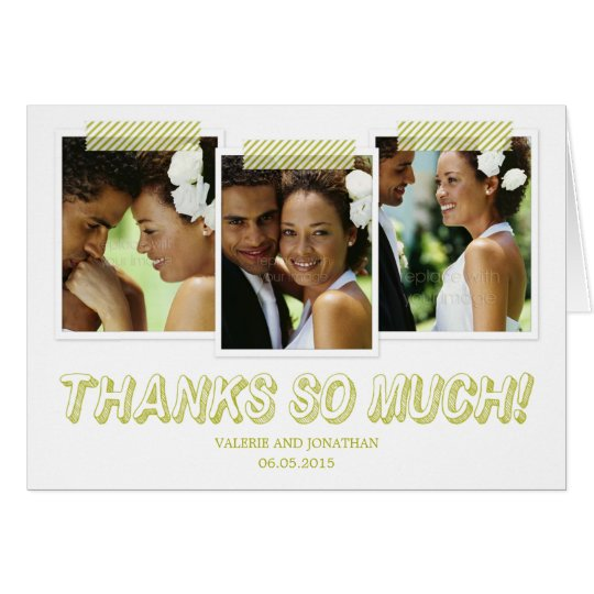Funky Snapshots Thank You Card