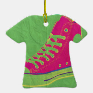 Funky Sneaker 2 Double-Sided T-Shirt Ceramic Christmas Ornament