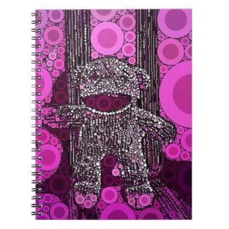 Funky Sock Monkey Circles Bubbles Pop Art Notebook