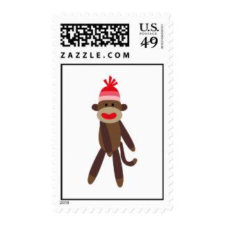 Funky Sock Monkey Postage Stamps