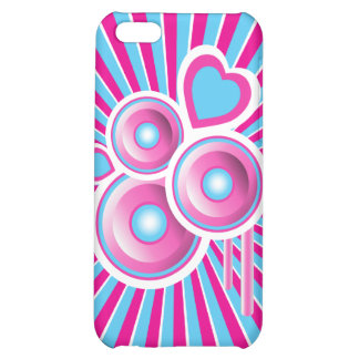 Funky Speakers Hearts Abstract Case For iPhone 5C