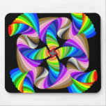funky spiral colored mousepads