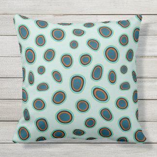Funky Spots Mandarin Fish Print Throw Pillow