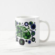 Funky Spotted Hippo Art Design Coffee Mug