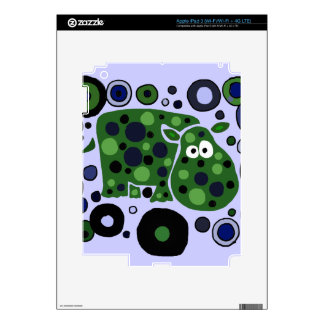 Funky Spotted Hippo Art Design iPad 3 Decals