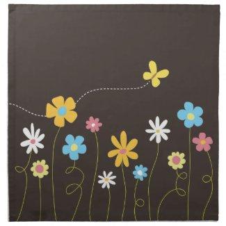 Funky Spring Flowers American MoJo Napkin mojo_napkin