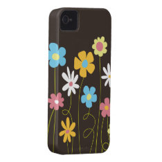 Funky Spring Flowers Iphone 4 Case at Zazzle