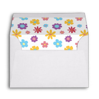 Funky Spring Flowers Pattern #A6 Envelopes