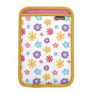 Funky Spring Flowers Pattern iPad Mini Sleeve