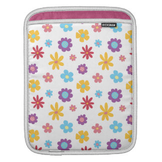 Funky Spring Flowers Pattern iPad Sleeve