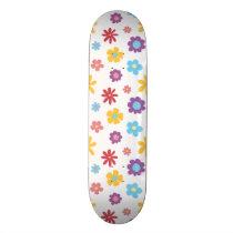 Funky Spring Flowers Pattern Skateboard Deck