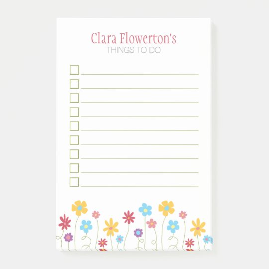 Funky spring flowers to do list post it notes zazzle funky spring flowers to do list post it notes mightylinksfo