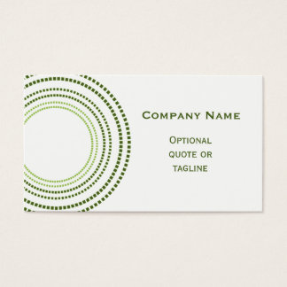 Funky Square Dots Business Card, Clover Green Business Card