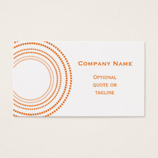 Funky Square Dots Business Card, Tangerine Business Card