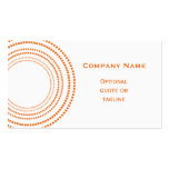 Funky Square Dots Business Card, Tangerine Double-Sided Standard Business Cards (Pack Of 100)
