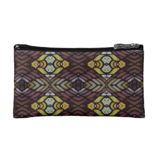 Funky Stained Glass Argyle Cosmetic Bag