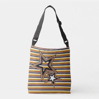 Funky Star and Stripes Crossbody Bag