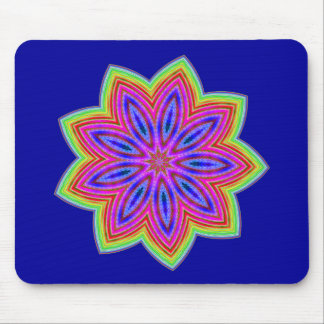 Funky Star Flower Mouse Pad