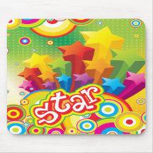 Funky Star Mousepad