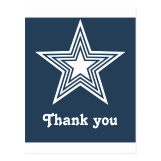 Funky Star Sweet 16 Flat Thank You Note Card Blue Postcards