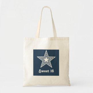 Funky Star Sweet 16 Swag Bag, Dark Blue Tote Bag