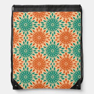 Funky Starburt Teal & Orange Design Backpacks