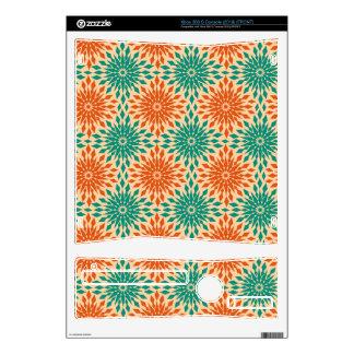 Funky Starburt Teal & Orange Design Skin For The Xbox 360 S
