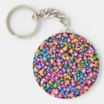 Funky Stars, colorful Keychain