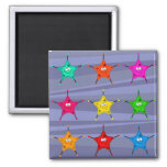 Funky Stars Magnets