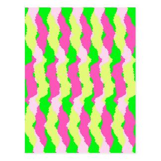 Funky Stripes 2011 Postcard